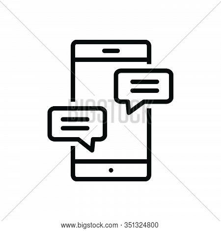 Black Line Icon For Chat Conversation Gossip Prattle Converse Bubble Discussion Conversation Dialogu