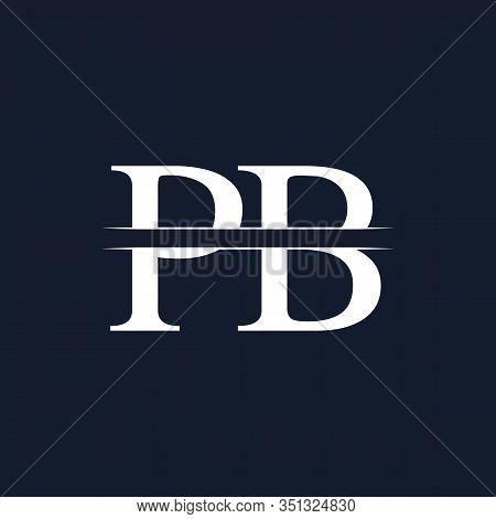 Initial Monogram Letter Pb Logo Design Vector Template. Pb Letter Logo Design