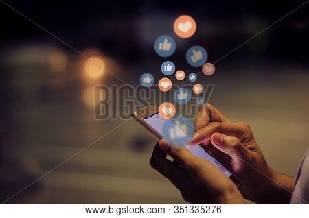Girl Using Mobile Smart Phone / Communication Concept