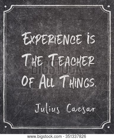 Experience Is The Teacher Of All Things - Ancient Roman Politician And Military General Julius Caesa