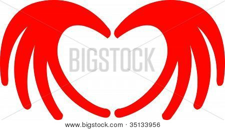 Heart Hands Valentine Wedding Clipart