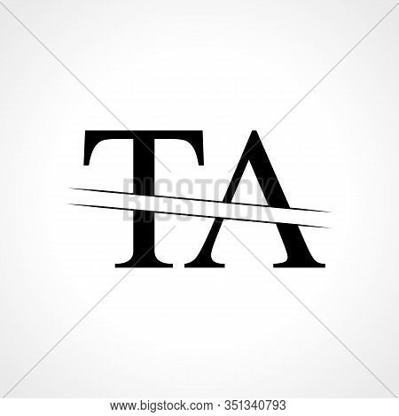 Initial Letter TA Logo Design Vector Template. Linked Typography TA Letter Logo Design