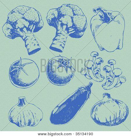 Retro Vegetables Set