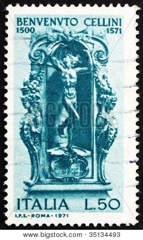 Postage stamp Italy 1971 Mercury by Benvenuto Cellini