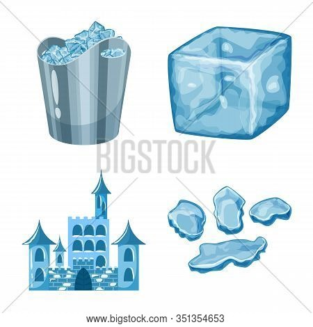 Vector Illustration Of Frost And Water Sign. Collection Of Frost And Wet Stock Vector Illustration.