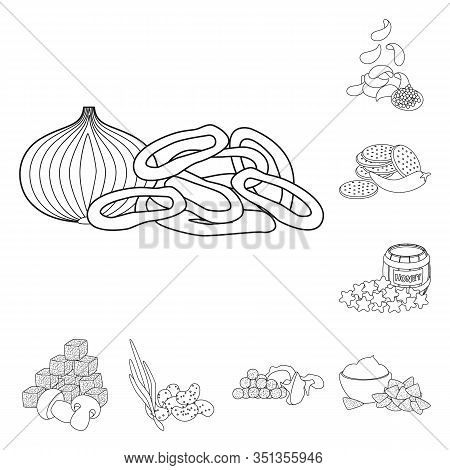 Vector Illustration Of Taste And Crunchy Icon. Collection Of Taste And Cooking Stock Vector Illustra