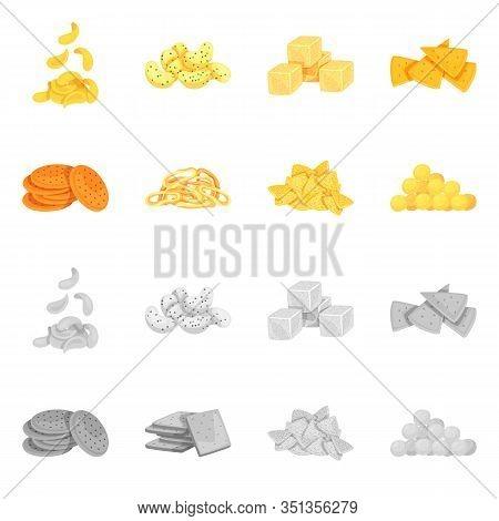Vector Design Of Oktoberfest And Bar Symbol. Set Of Oktoberfest And Cooking Stock Symbol For Web.
