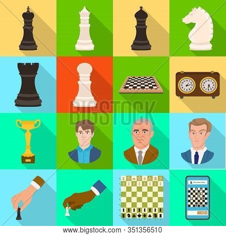 Vector Illustration Of Checkmate And Thin Icon. Collection Of Checkmate And Target Vector Icon For S