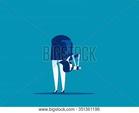 Different Vision. Concept Business Individual Vector Illustration, Inspiration, View.
