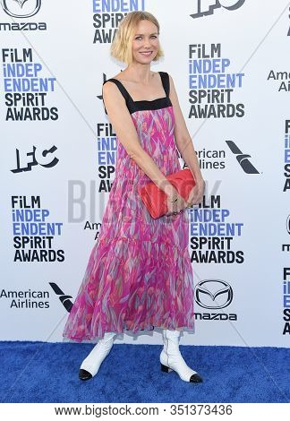 LOS ANGELES - JAN 06:  Naomi Watts arrives for the Film Independent Spirit Awards 2020 on February 08, 2020 in Santa Monica, CA