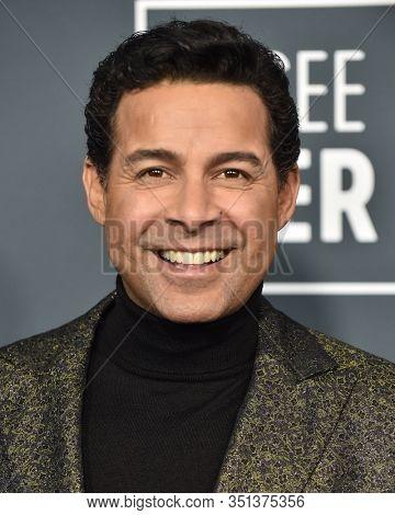LOS ANGELES - JAN 12:  Jon Huertas arrives for the 25th Annual Critics' Choice Awards on January 12, 2020 in Santa Monica, CA