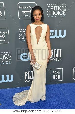 LOS ANGELES - JAN 12:  Susan Kelechi Watson arrives for the 25th Annual Critics' Choice Awards on January 12, 2020 in Santa Monica, CA