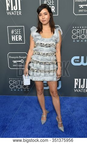 LOS ANGELES - JAN 12:  Maya Erskine arrives for the 25th Annual Critics' Choice Awards on January 12, 2020 in Santa Monica, CA