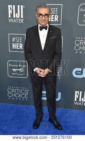 LOS ANGELES - JAN 12:  Eugene Levy arrives for the 25th Annual Critics' Choice Awards on January 12, 2020 in Santa Monica, CA