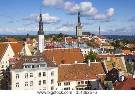 Aerial View Of Tallinn Old Town, Estonia