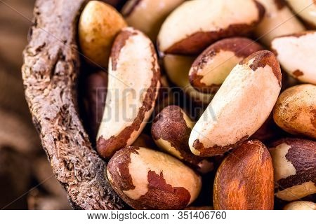 Foods With Healthy Unsaturated Fat. Brazilian Nuts, Popularly Known In Portuguese As Brazil Nuts, Am