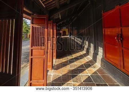 Minh Lau Pavilion At Minh Mang Emperor Tomb In Hue, Vietnam