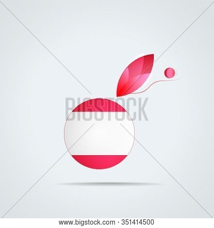 Vector Graphic Icon With Flag And Feather Of Bulgaria Turk ( Balkan Turk )