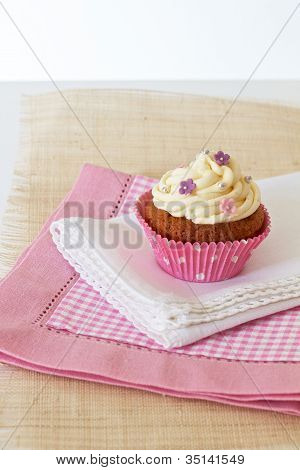 Cupcake With White Icing