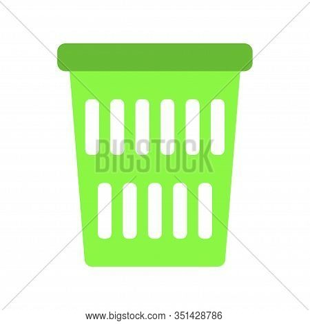 Vector Simple Icon Of Wastepaper Basket. Modern Concept Design. Isolated Vector Sign Symbol