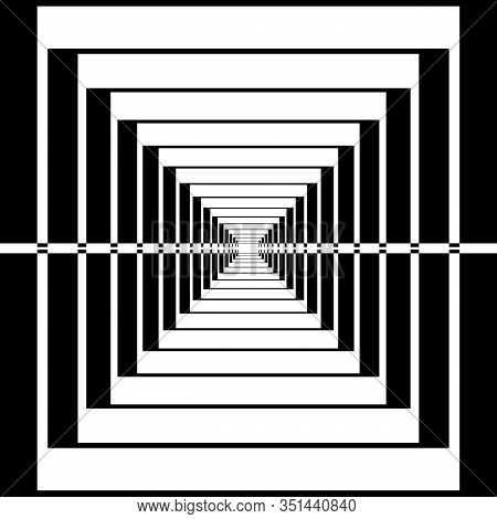 Perspective Frame Like Structure Arabesque Illusion Abstract Cut Art Deco Illustration On Transparen