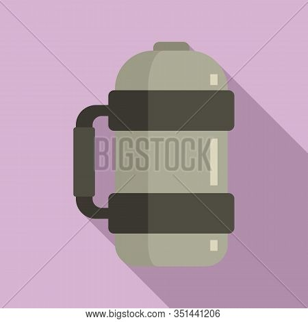 Vacuum Insulated Water Bottle Icon. Flat Illustration Of Vacuum Insulated Water Bottle Vector Icon F