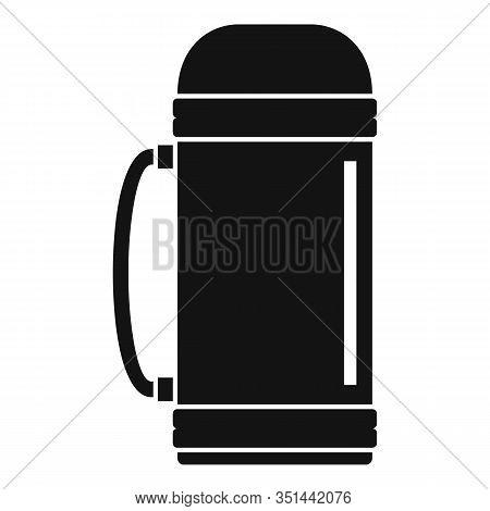 Aluminium Vacuum Bottle Icon. Simple Illustration Of Aluminium Vacuum Bottle Vector Icon For Web Des