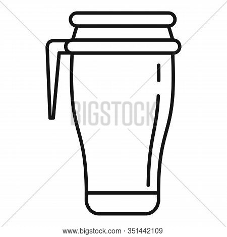 Vacuum Insulated Water Bottle Icon. Outline Vacuum Insulated Water Bottle Vector Icon For Web Design