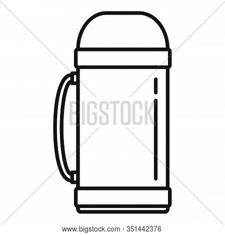 Aluminium Vacuum Bottle Icon. Outline Aluminium Vacuum Bottle Vector Icon For Web Design Isolated On