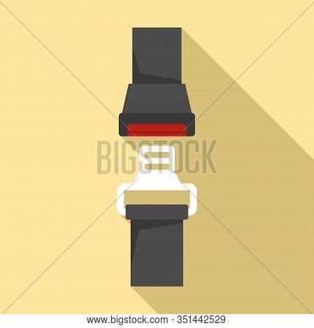 Auto Seatbelt Icon. Flat Illustration Of Auto Seatbelt Vector Icon For Web Design
