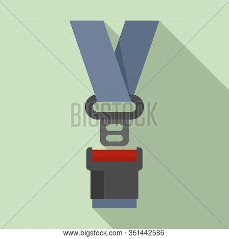Safe Seatbelt Icon. Flat Illustration Of Safe Seatbelt Vector Icon For Web Design