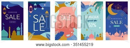 Ramadan Kareem, Happy Ramadan, Greeting Card. Eid Mubarak, Islamic Holiday Background. Story Templat