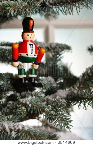Christmas Toy Solider On Tree