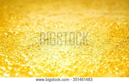 Blurred Golden Background Made With Decorative Enamel With Effect Of Chromium
