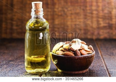 Brazil Nut Oil, Used As A Culinary Ingredient And Beauty Product. Oil From The Bertholletia Excelsa