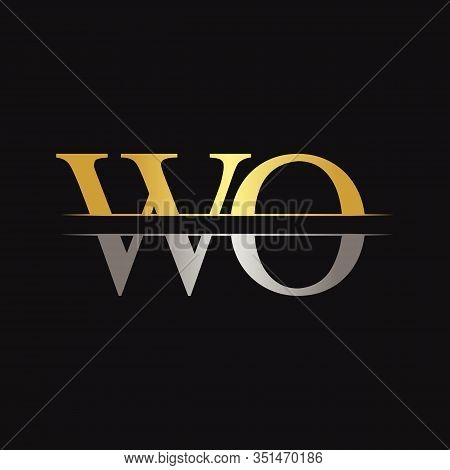 Initial WO Letter Linked Logo. Creative Letter WO Logo Design Vector Template