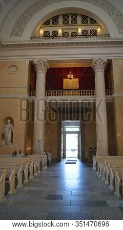 Copenhagen, Denmark - Jul 06th, 2015: Inside Of Christiansborg Palace Chapel At Christiansborg Palac