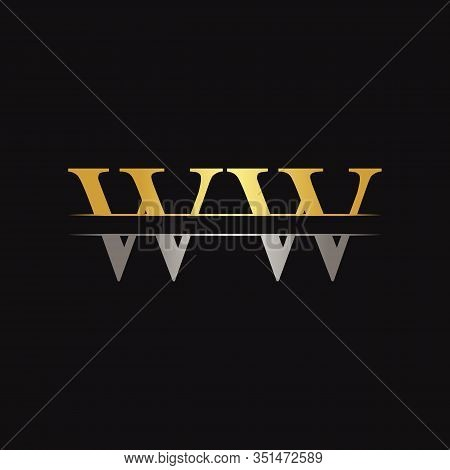 Initial WW Letter Linked Logo. Creative Letter WW Logo Design Vector Template