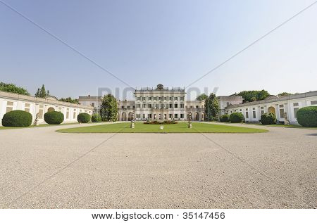 Historic Villa Borromeo at Cassano d'Adda Milan Lombardy Italy) and its garden poster