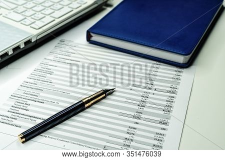 Bank Statement And Credit Card Statement Showing Account