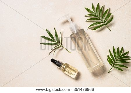 Hyaluronic Acid And Hyaluronic Gel For Face And Body. Moisturizing Repairing Cosmetics. Flat Lay Ima