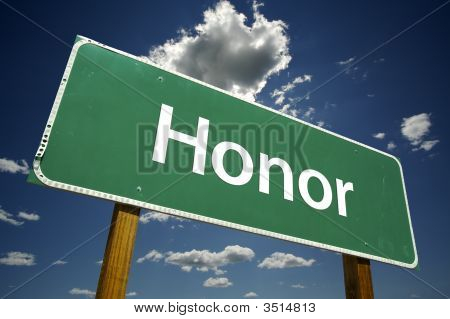 Honor Road Sign