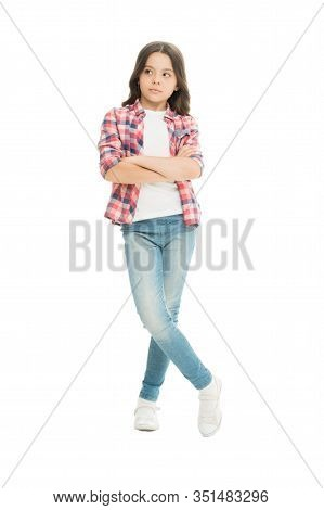 Cool Girl. Child Care. Wellbeing And Health. Upbringing Versatile Personality. Childhood Concept. Gi