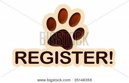 Button paw register