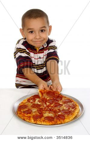 Kid And Pizza