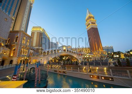 Las Vegas - Dec. 26, 2015: St Mark`s Campanile (campanile Di San Marco) Of The Venetian On Las Vegas