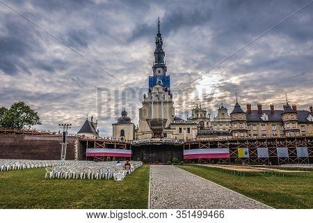 Czestochowa, Poland July 2, 2017: Altar In Front Of Famous Jasna Gora Monastery In Czestochowa City