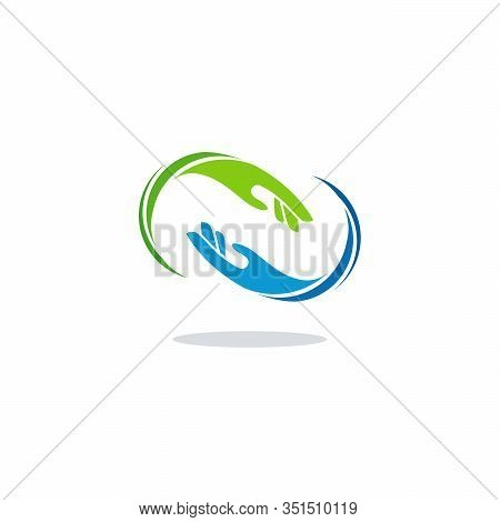 Hand Care Logo Designs, Teamwork Logo Template Designs