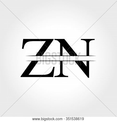 Initial ZN Logo Design Vector Template. Creative Letter ZN Business Logo Vector Illustration