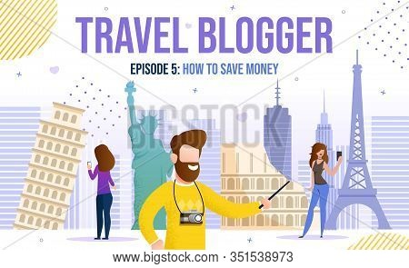 Man And Woman Travel Blogger Content Creator Giving Ideas, Inspiration, Save Money Recommendations F